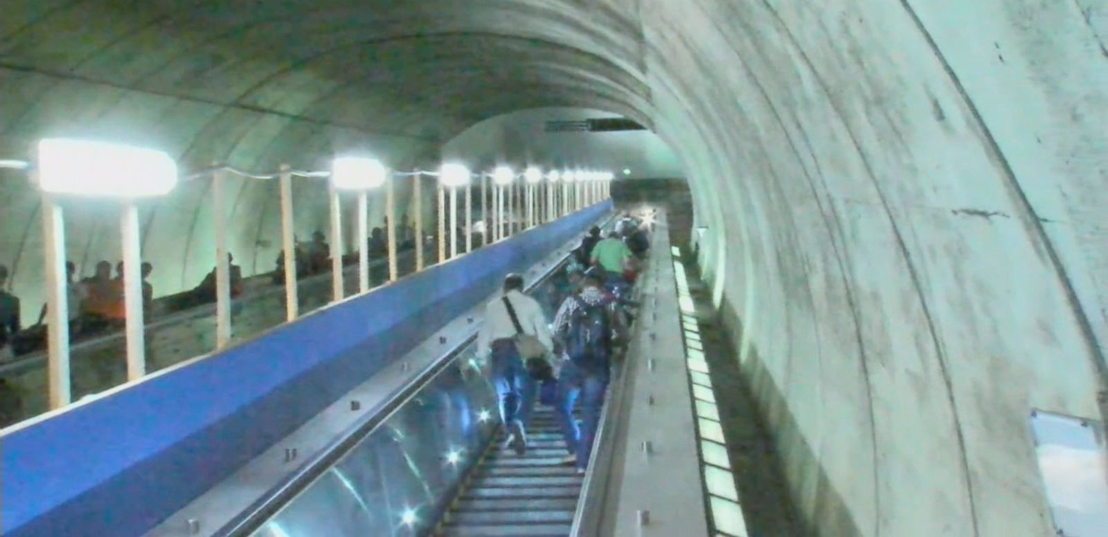 VIDEO: The Metro escalator in Bethesda, Maryland, debuted after a nine-month renovation period.