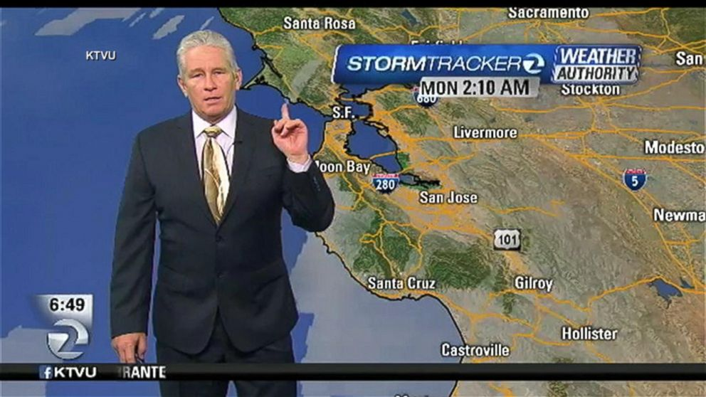 VIDEO: KTVUs Steve Paulson was on air with his weather report when the 4.0 magnitude earthquake hit near Berkeley.