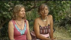 VIDEO: Laura Sherman, 57, and Denise Diaz, 56, say they chewed on grasses and drank their own urine to survive, before finally spotting cowboys, who called for help.