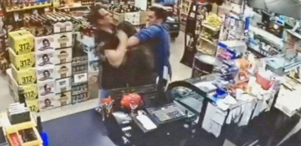 VIDEO: See Customers Take on Alleged Armed Robber