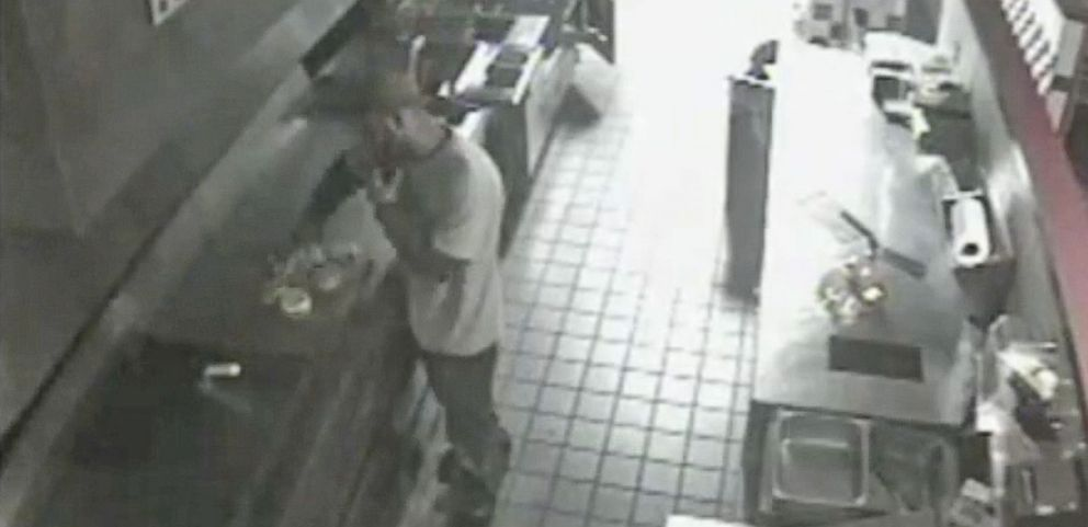 VIDEO: Burglar Breaks into Restaurant and Cooks Himself Food