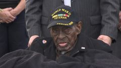 VIDEO: Frank Levingston appeared at a ceremony in December 2015 to marking the Japanese attacks on Pearl Harbor.