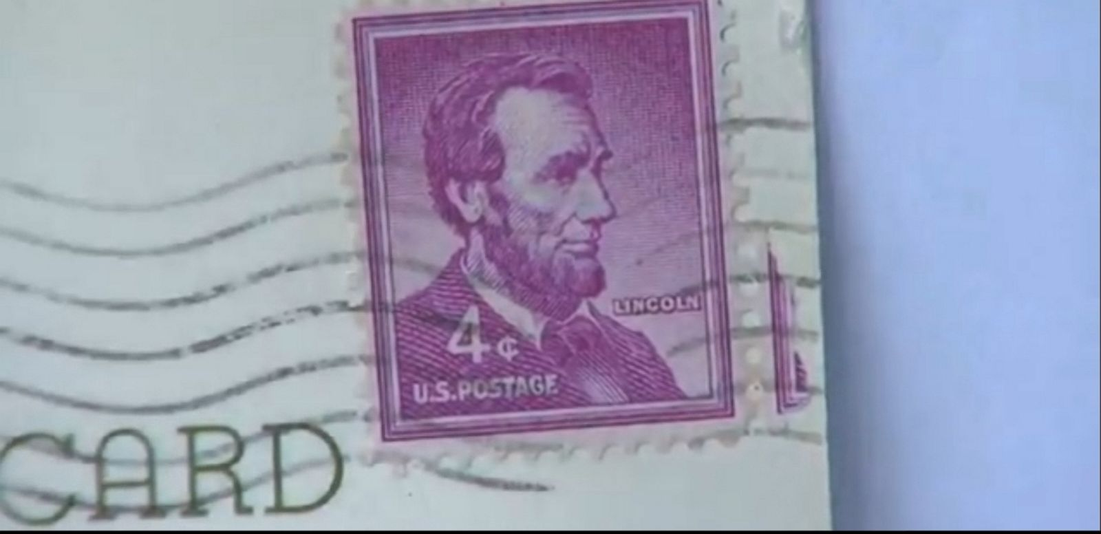 VIDEO: The postcard was mailed to the Connecticut family in 1963 by an aunt who has since passed away.