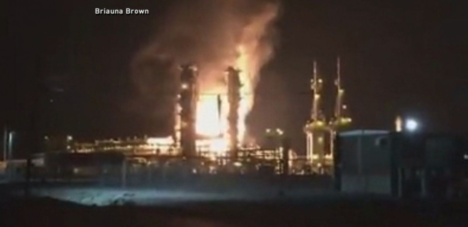 VIDEO: An explosion and fire broke out at a BP natural gas plant along Mississippi's Gulf Coast late Monday night, but police said there were no injuries.