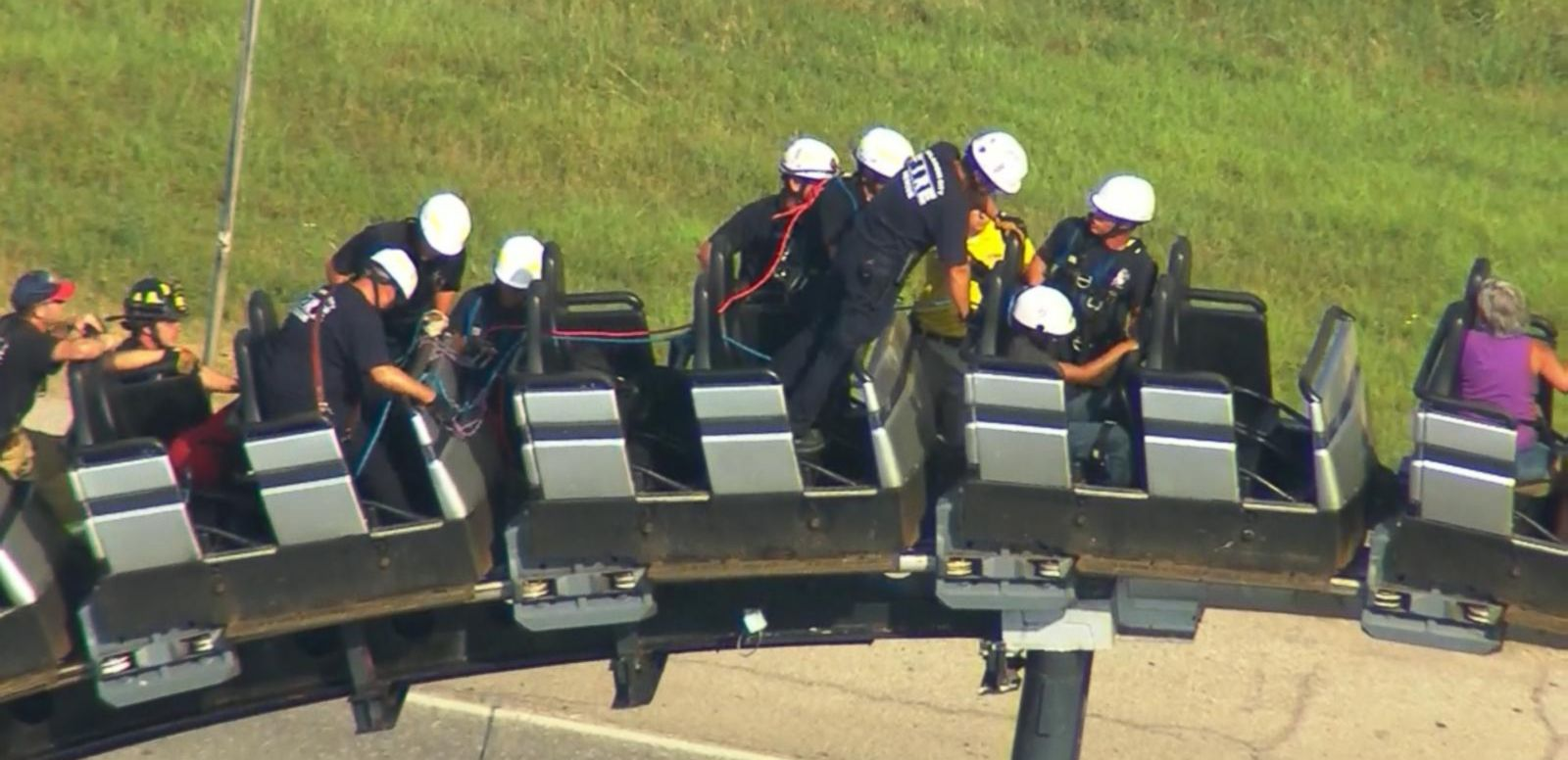 VIDEO: 8 People Stuck on Oklahoma Roller Coaster 100 Feet Off Ground