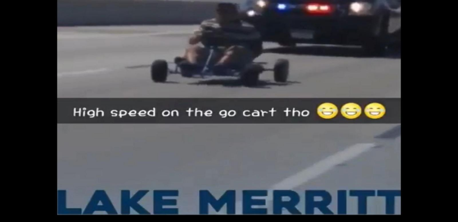 Police Chase Man in Go-Kart Down California Freeway