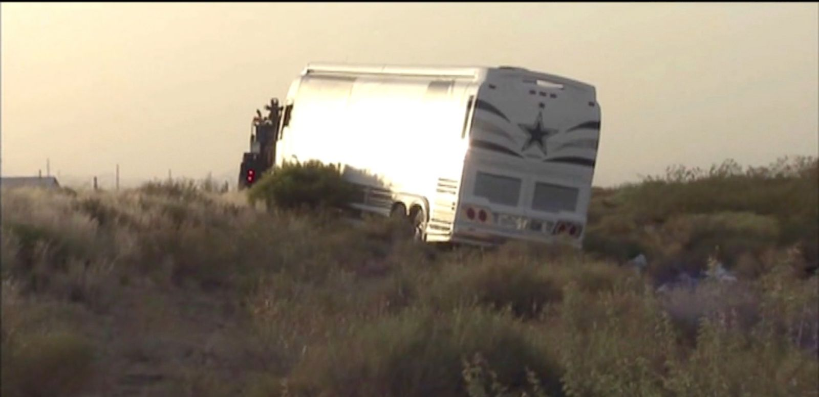 VIDEO: Four people were killed in a collision between a bus carrying Dallas Cowboys staff members and a van on a northwestern Arizona highway Sunday.