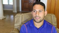 VIDEO: University of Florida linebacker Cristian Garcia said God put me in the right place at the right time to stop the alleged sexual assault of a young woman behind the bar where he works.