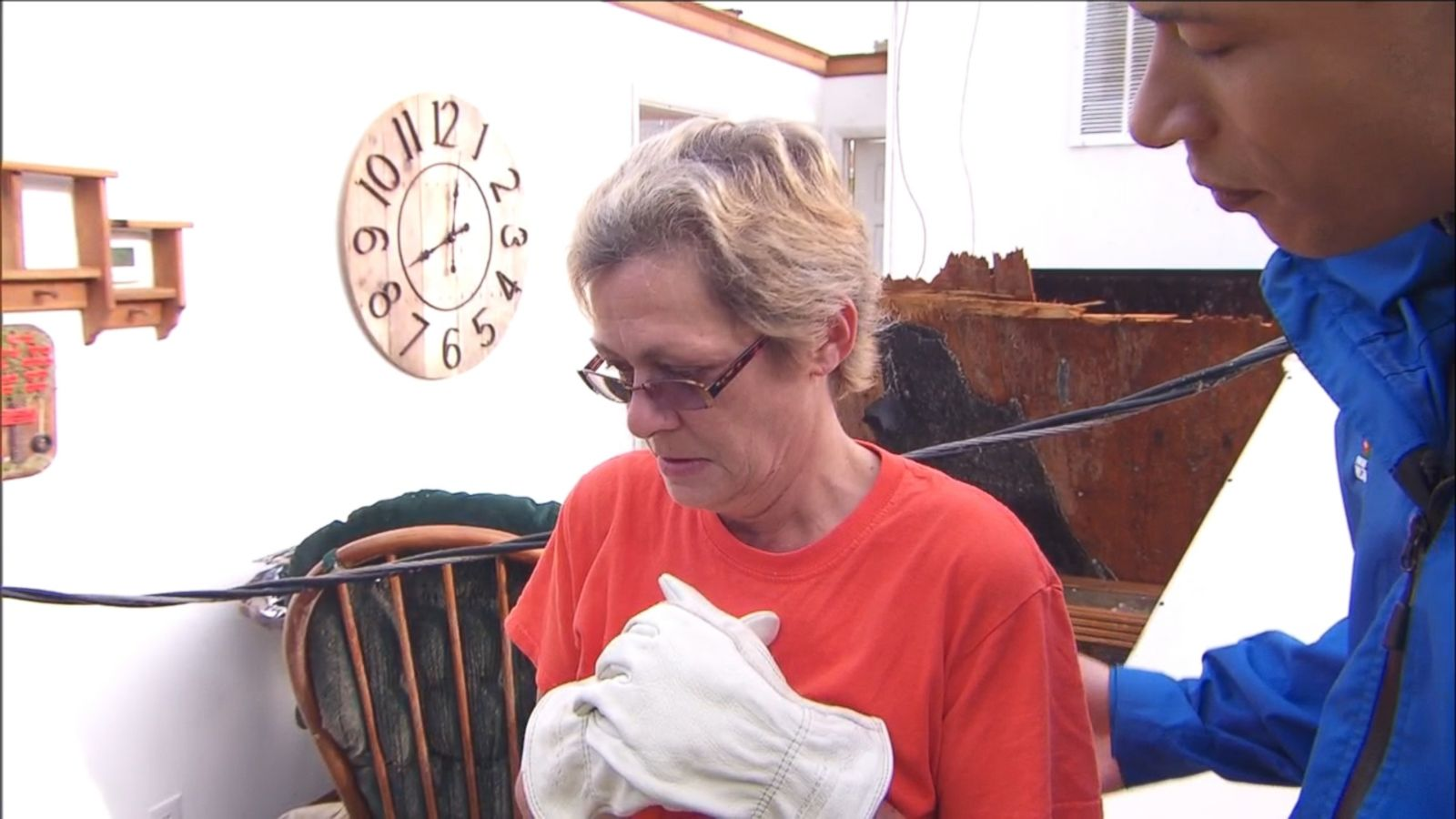 Becki Sweeney of Kokomo, Indiana, is trying to recover personal items after a tornado tore through her community and destroyed her home of 16 years.