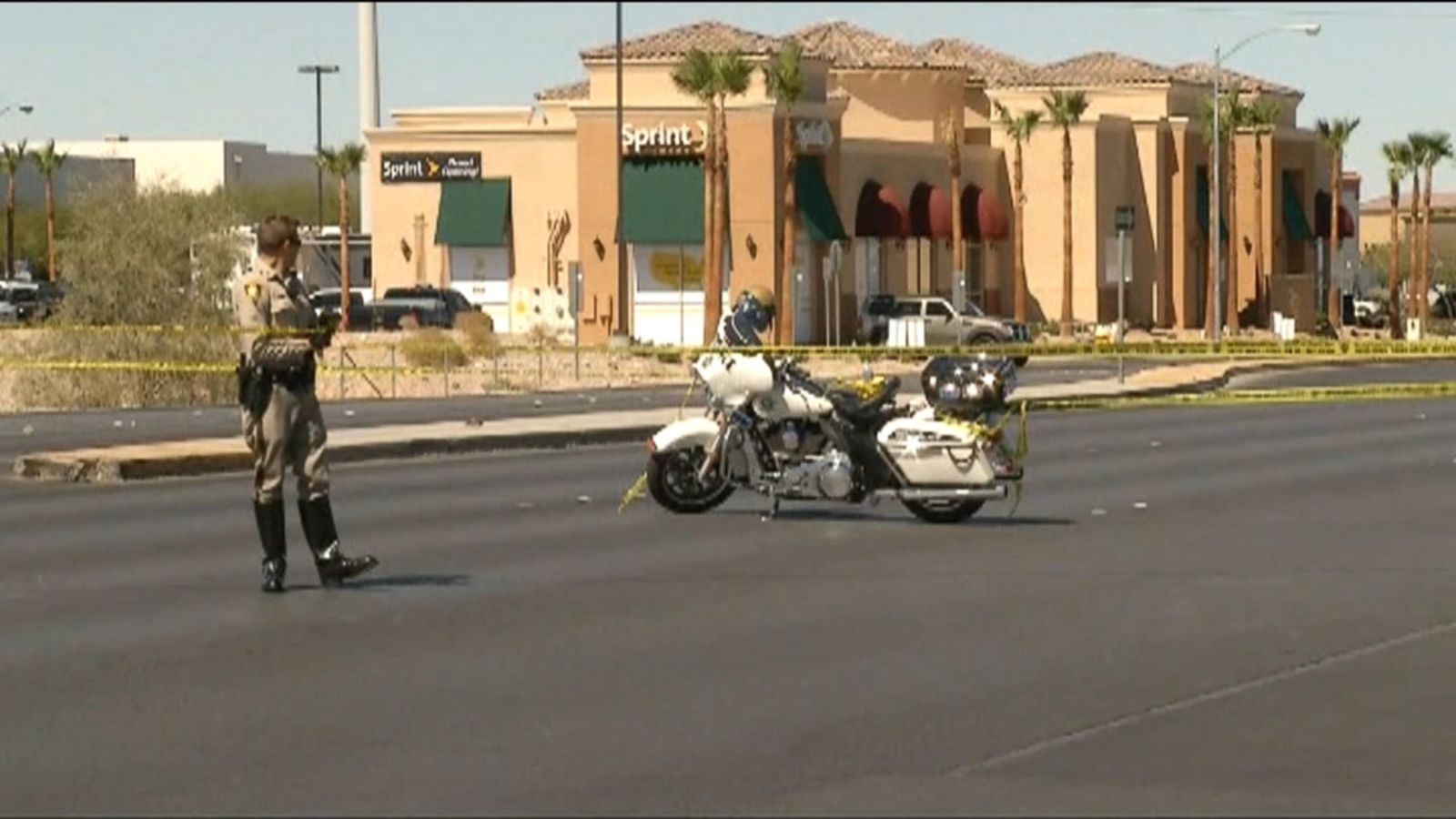 VIDEO: A man shot another man dead Sunday inside a Las Vegas Starbucks and the suspect left along with people being evacuated but was arrested later, police said.
