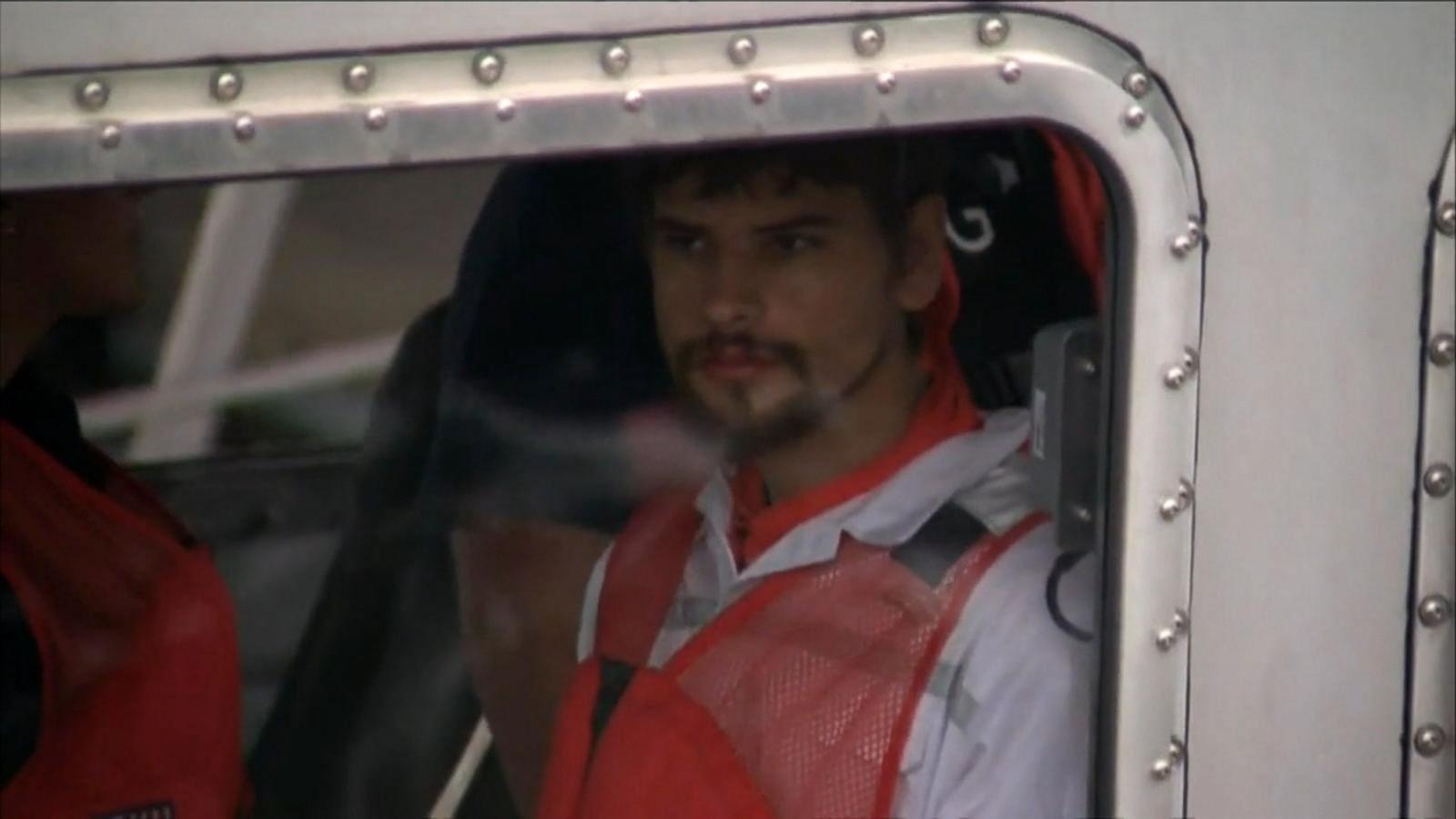 Nathan Carman, 22, was found on an inflatable raft off Martha's Vineyard.