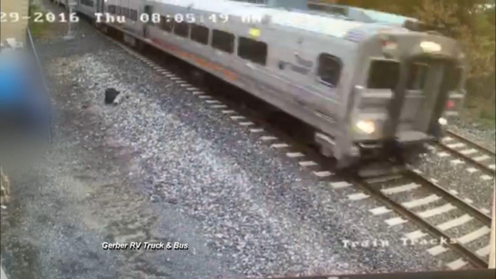 This surveillance video shows New Jersey Transit train 40 minutes before it crashed in Hoboken.