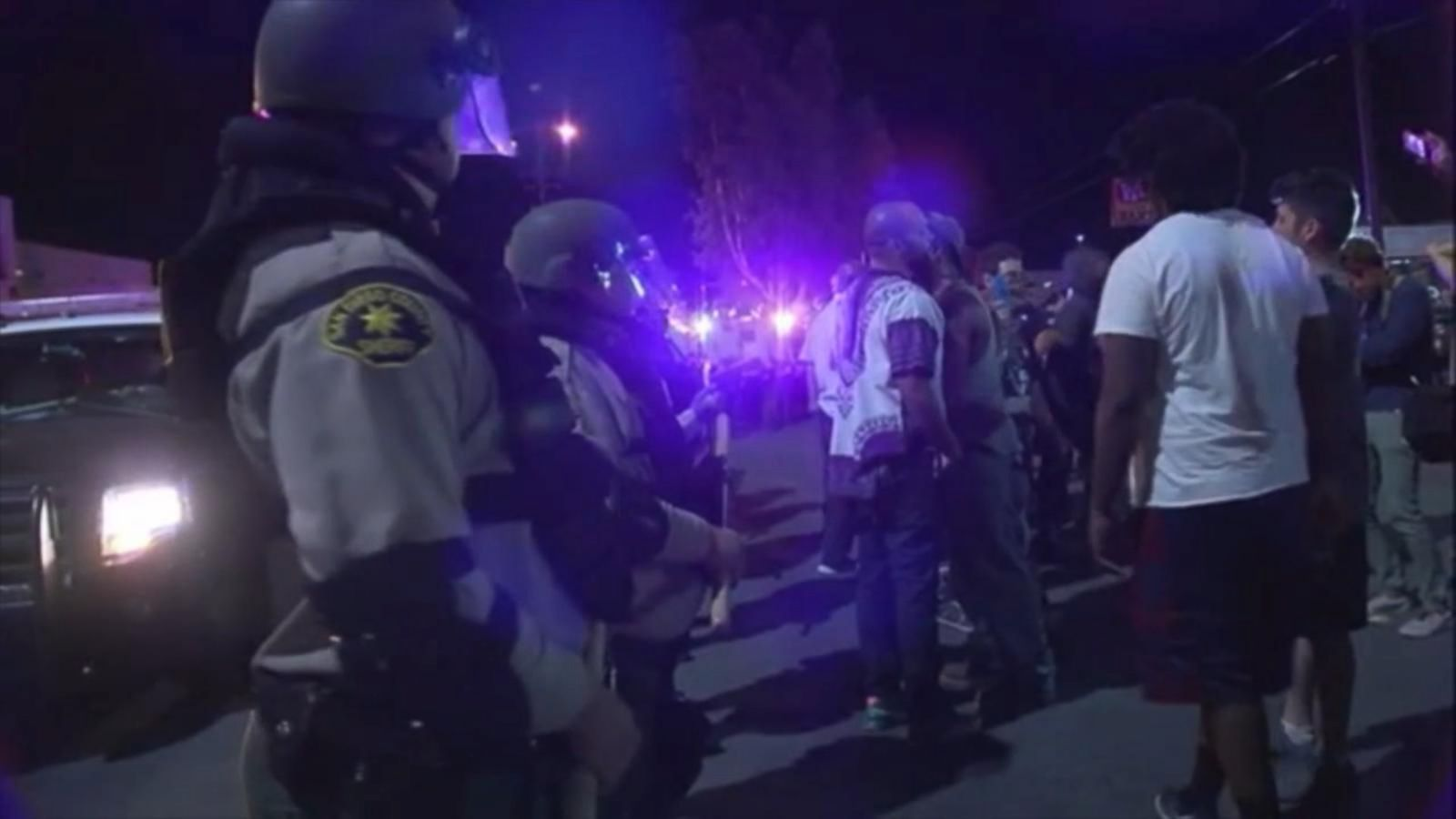 Protesters Gather for 2nd Night After Police Shooting in California