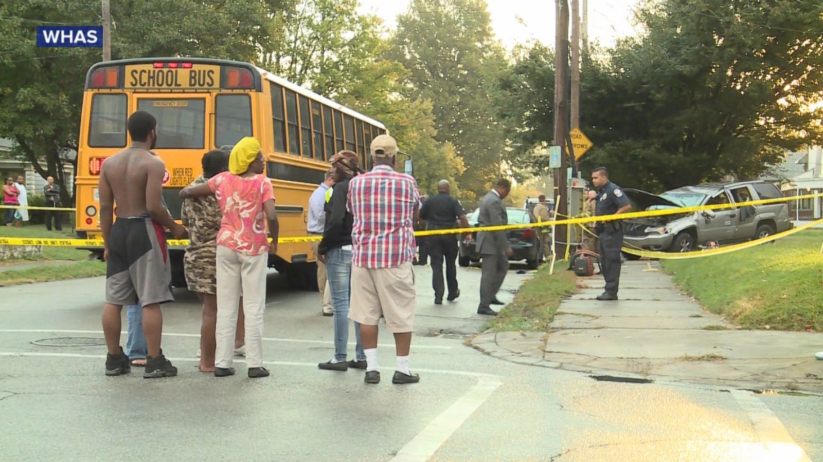 VIDEO: Police in Louisville, Kentucky, say three children remain in the hospital today after an SUV hit them as they prepared to board a school bus.