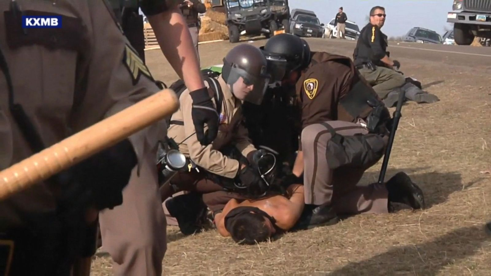 Police arrested 141 people at a protest against the Dakota Access Pipeline in North Dakota today as officers attempted to disperse the crowd, authorities said.