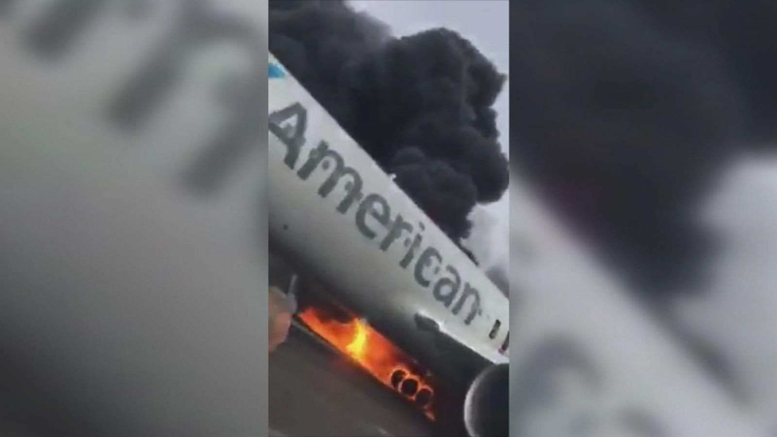 The dramatic video shows screaming passengers as they evacuate the plane at Chicago's O'Hare International Airport.