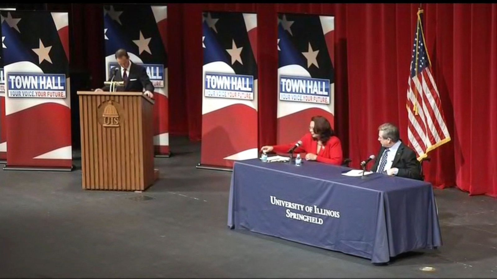 Republican Sen. Mark Kirk appeared to question his Democratic opponent's ties to the United States based on her bi-racial heritage at a debate on Thursday night in Springfield, Illinois.