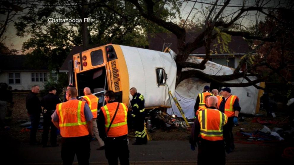 Five Children Killed in Chattanooga School Bus Crash Video ...