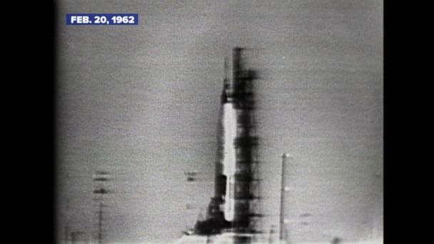 Feb. 20, 1962: The spacecraft is piloted by astronaut John Glenn.