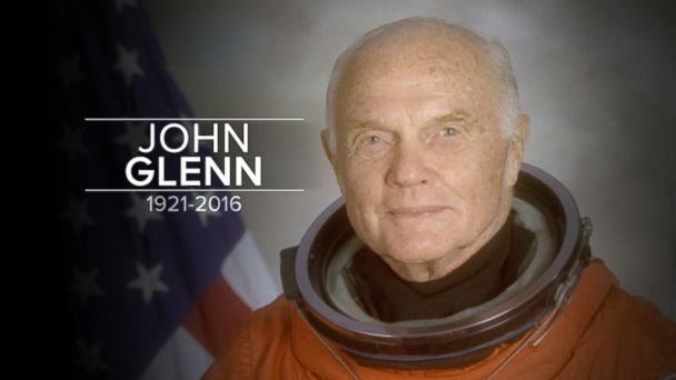John Glenn, the first American astronaut to orbit the earth and a legendary figure in the American space flight program, has died, the Ohio governor has said. He was 95.