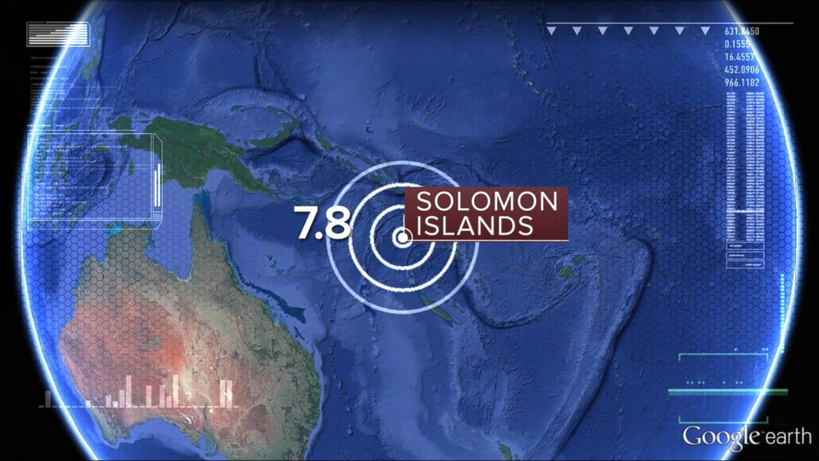 The quake's center was some 42 miles southwest of the Solomon Islands.