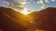 VIDEO: Breathtaking timelapse video captures gorgeous sunset over Logan Canyon in Utah.