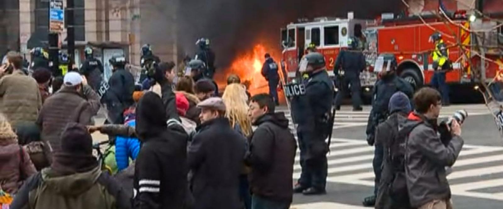 VIDEO: Protesters Gather in Washington D.C. After Inauguration Ceremony