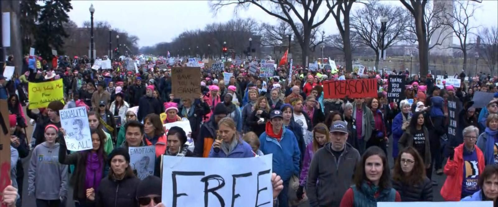 VIDEO: Protesters Begin March on Washington