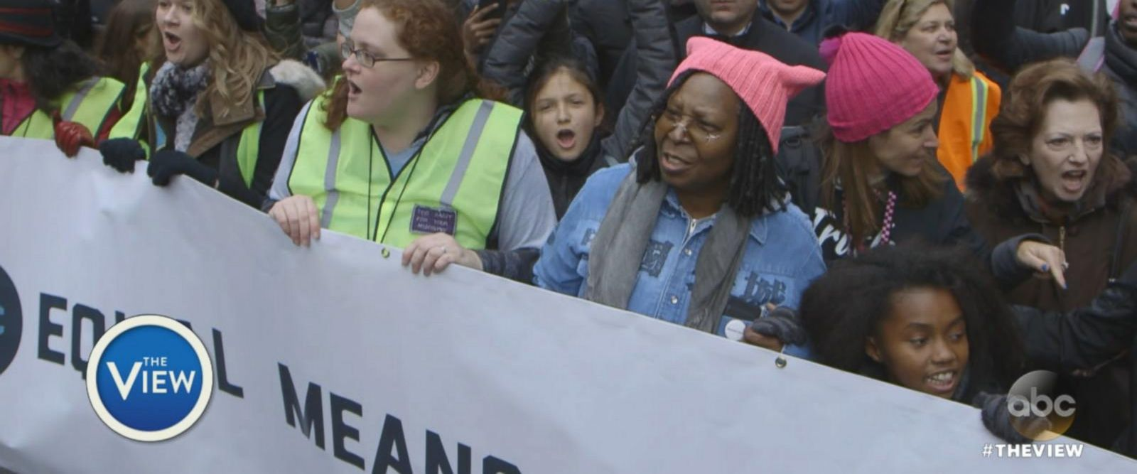 VIDEO: Whoopi Goldberg Discusses Her Experience at NYC Women's March