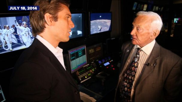 Buzz Aldrin in 2014 looks back on the Apollo 11 mission.
