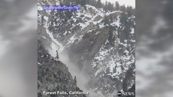 Incredible video shows dramatic landslide in Forest Falls, California
