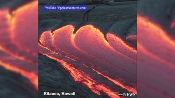 VIDEO: Lava flow captured during 'blue hour' of the morning between dawn and full daylight at Hawaii's Kilauea Volcano.