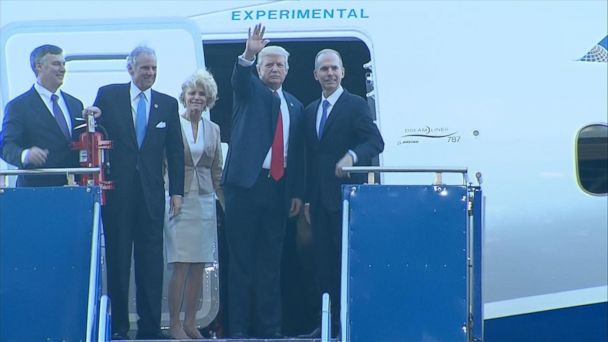 VIDEO: Trump visits South Carolina for Boeing Dreamliner debut