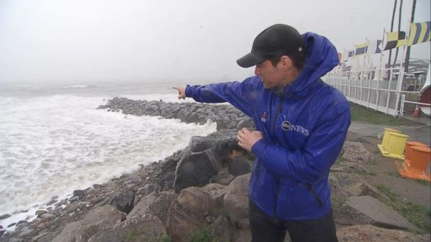 VIDEO: Heavy rain and wind lash california coast