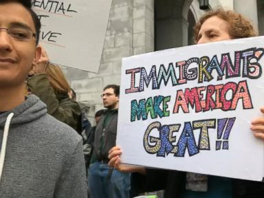 WATCH:  Not My President Day protests in LA