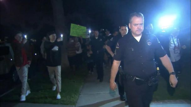 An off-duty officer fired his weapon into the ground in an altercation with a group of teenagers in Anaheim, California.