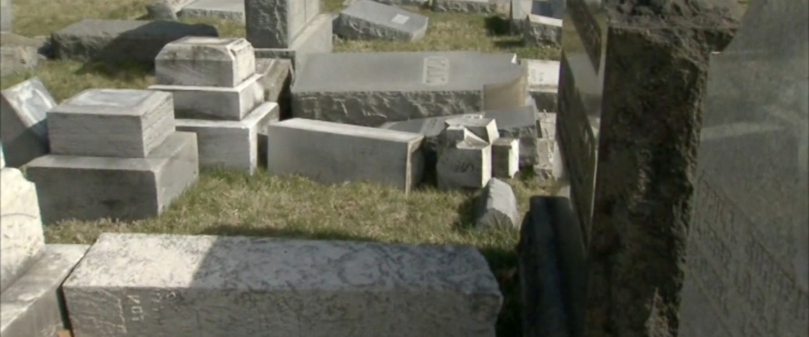 VIDEO: Volunteers cleaning up the damage say hundreds of headstones were vandalized at the Mount Carmel Cemetery.