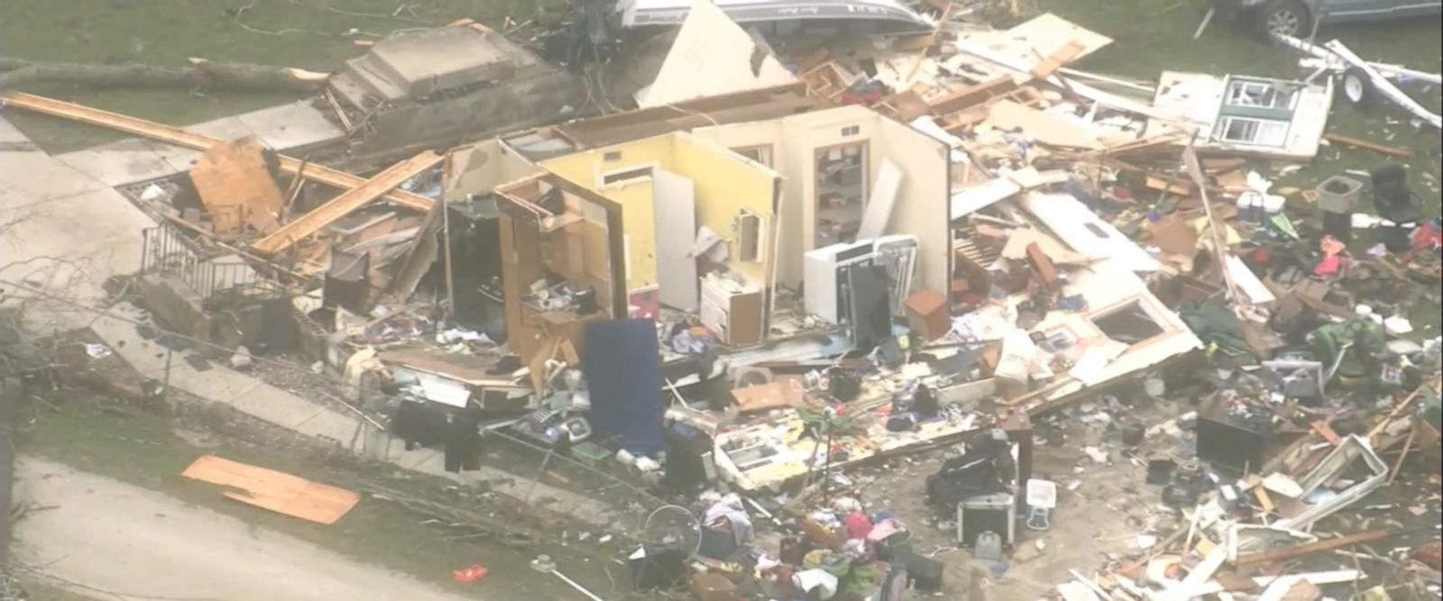 Much of the widespread damage was seen in Ottawa, Illinois.