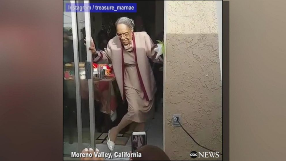 VIDEO: 100-year-old grandmother dances while celebrating her milestone birthday