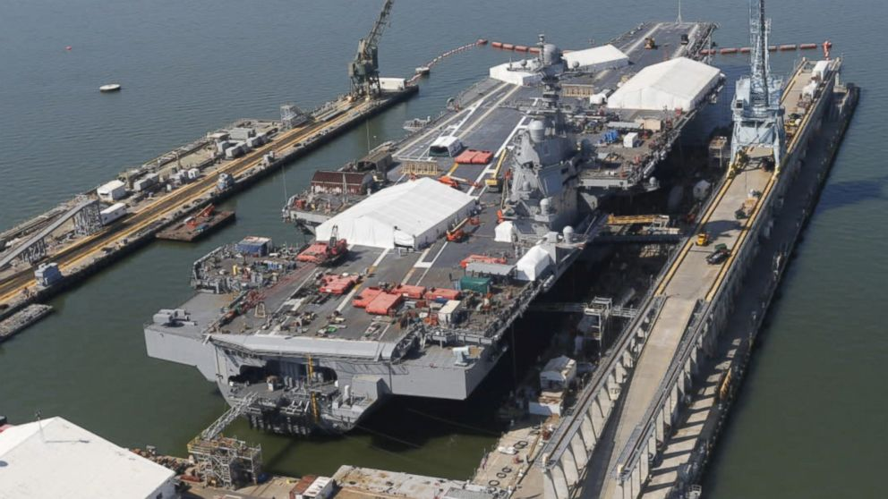 The Uss Gerald R Ford By The Numbers Video Abc News