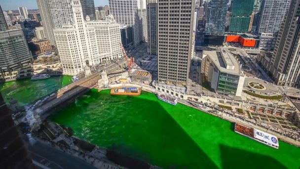 VIDEO: Timelapse video shows how Chicago River turns green for St. Patrick's Day
