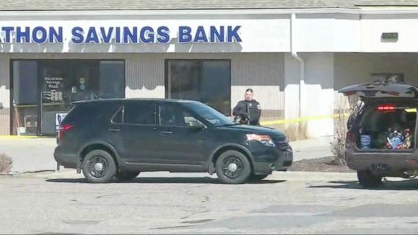 VIDEO: Four people including a police officer were killed in Wisconsin Wednesday after a domestic dispute escalated into shootings at three different locations -- a bank, a law firm and an apartment complex.