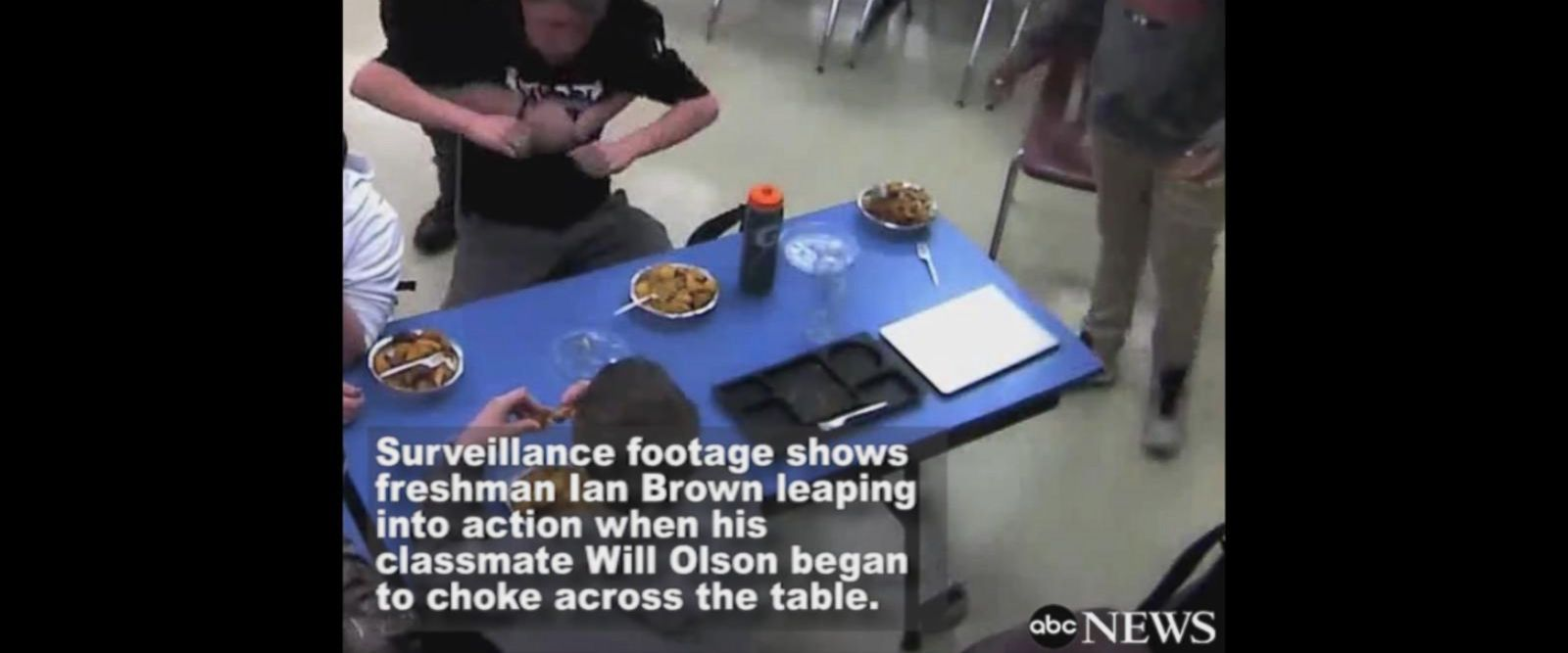 VIDEO: High school student performs Heilmich maneuver on classmate