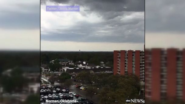 VIDEO: Incredible time lapse video captures a massive storm cell rolling through the University of Oklahoma's campus.