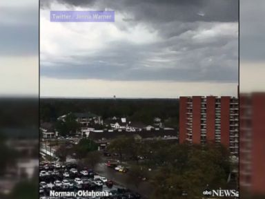 WATCH:  Storm cell rolls through University of Oklahoma campus