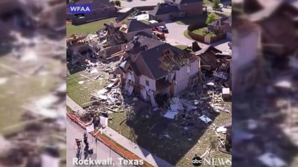 VIDEO: Homes destroyed in Rockwall, Texas, after severe storms move through area