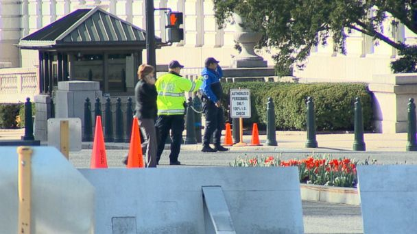 The suspect apparently struck a Capitol Police cruiser and then tried running over several officers who were on foot, according to Metro DC Police.