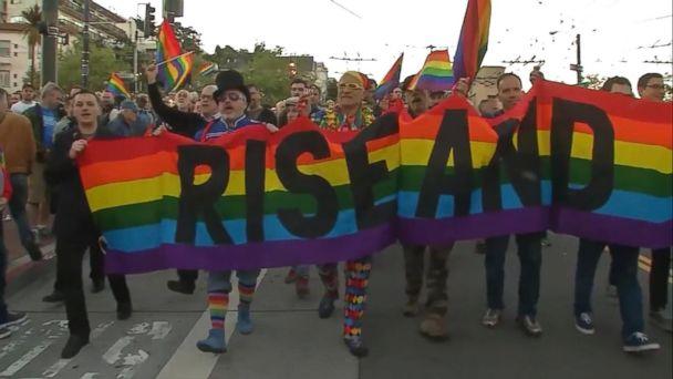VIDEO:  Vigil for LGBT flag creator held in San Francisco