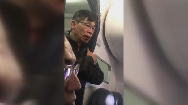 The passenger was forcibly removed after not giving up his seat for airline crew members.