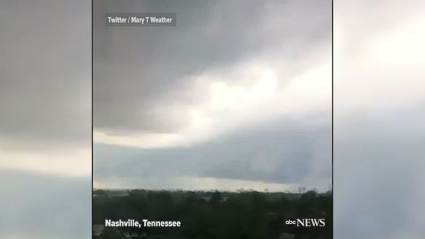VIDEO: Timelapse video shows storm rolling into Nashville. Severe thunderstorms and heavy rain has brought flooding and high winds to the area.